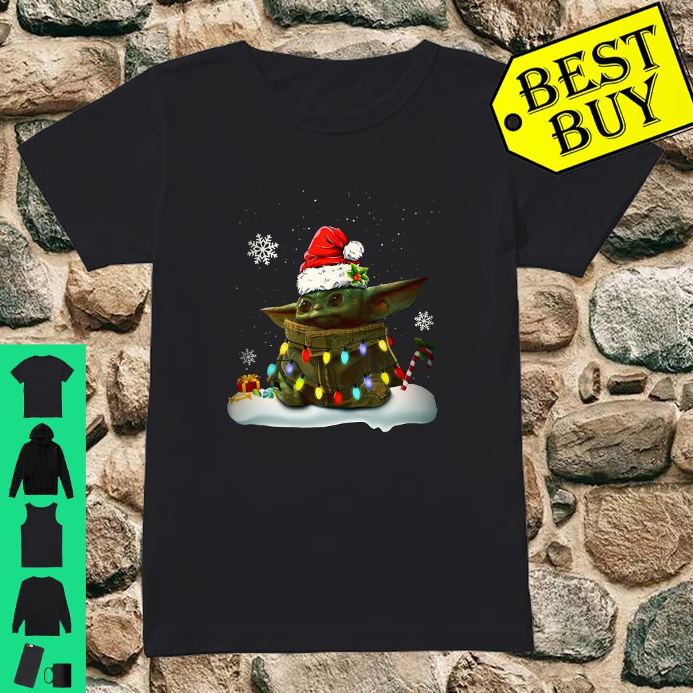 Santa Baby Yoda Christmas Light shirt ladies tee