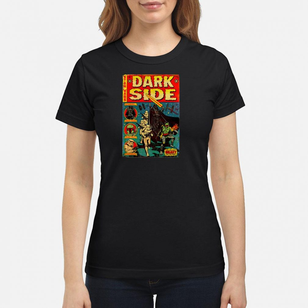 Star Wars Dark Side Comic Cover Shirt ladies tee