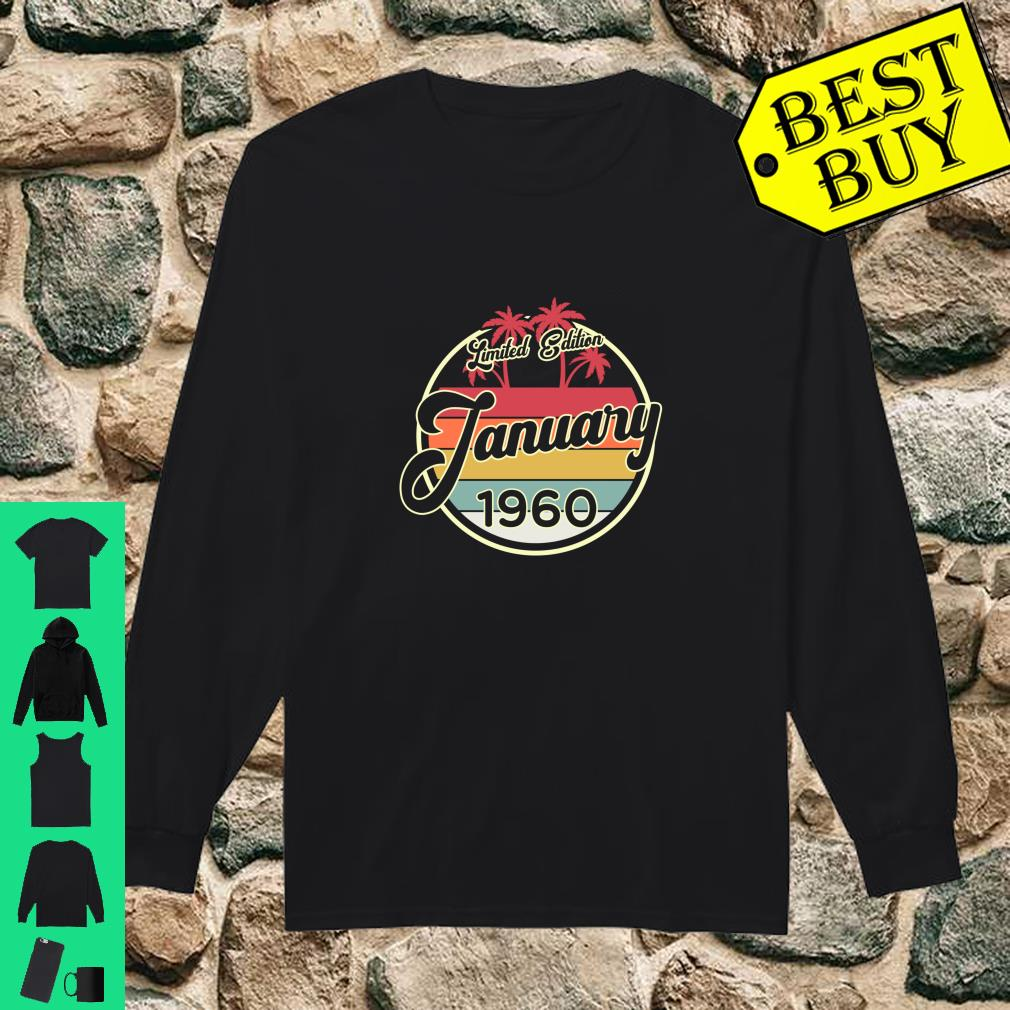 Vintage 80s January 1960 60th Birthday Gift shirt long sleeved