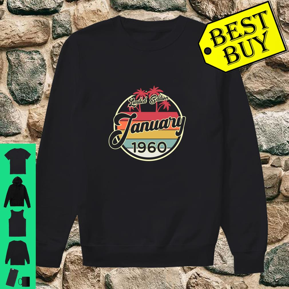 Vintage 80s January 1960 60th Birthday Gift shirt sweater