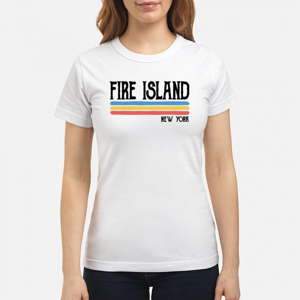 Vintage Fire Island New York NY Souvenir Gift Shirt ladies tee