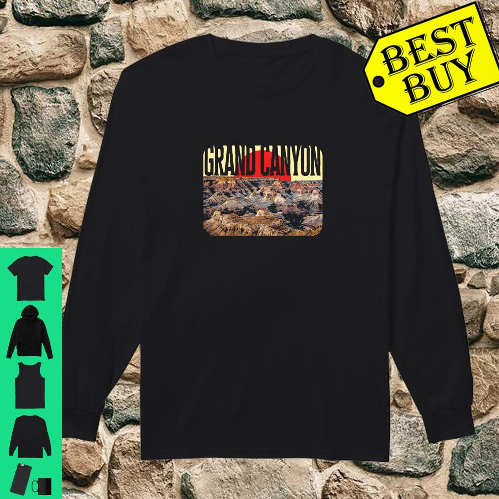 Official Vintage Grand Canyon National Park Retro Poster Style Langarm Shirt Hoodie Tank Top And Sweater